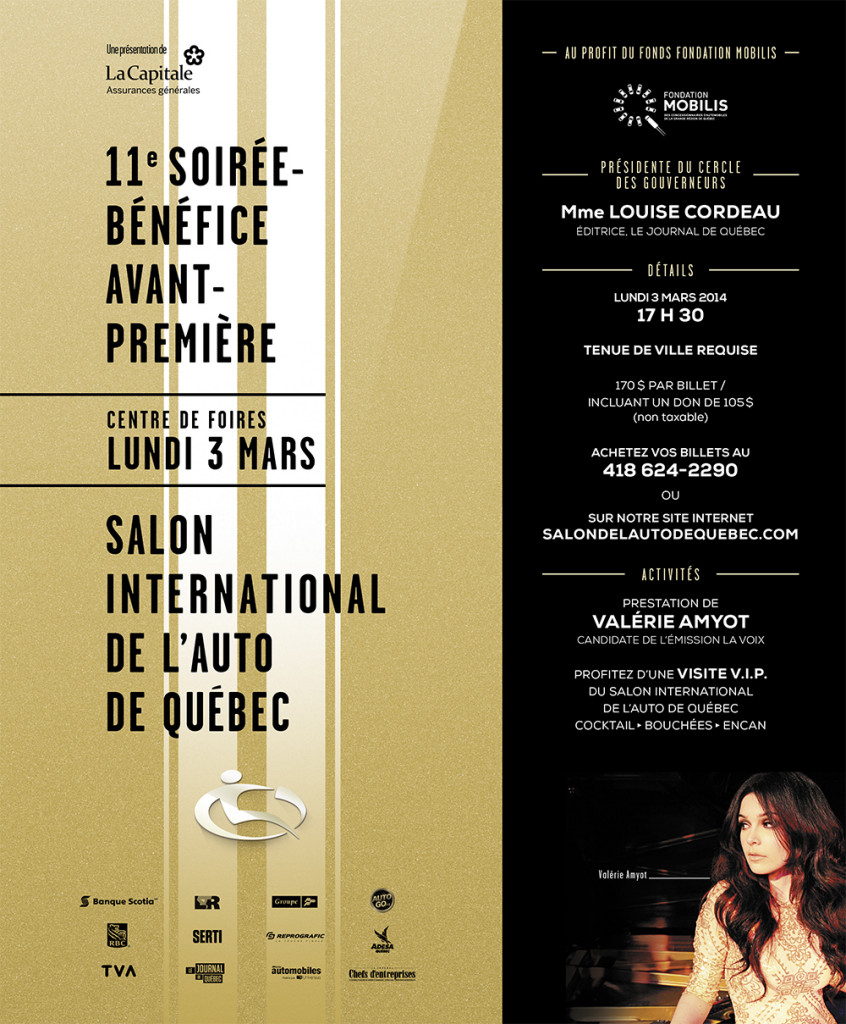 La soir e b n fice avant premi re du salon international for Salon de the quebec